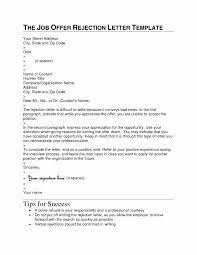 Business Letter Declining A Job Offer Erpjewels Com