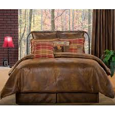 delectably yours decor gatlinburg faux leather rustic bedding comforter set