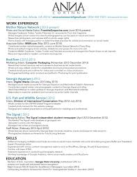 resume anna norris photographer writer editor social media resume