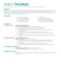 Modern Resumes Classy Modern Decoration Accounts Payable And Receivable Resume Receivables