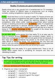 different type of essay narrative and descriptive essays examples  a for and against essay learnenglish teens british council