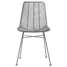 bloomingville rattan dining chair lena gray bloomingville