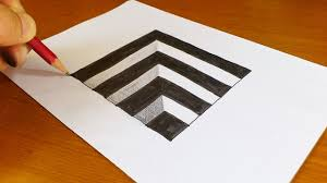 very easy 3d paintings on paper very easy how to draw 3d hole for