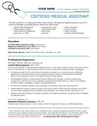Medical Assistant Resume Example Inspiration Medical Assistant Resume Examples Example Objective Entry Level