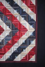 34 best Sewing for Soldiers images on Pinterest | DIY, American ... & Patriotic Log Cabin Adamdwight.com