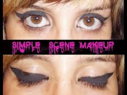 thick winged eyeliner tutorial simple scene makeup