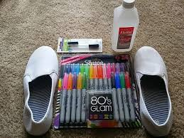 white canvas shoes sharpie permanent markers 91 isopropyl alcohol