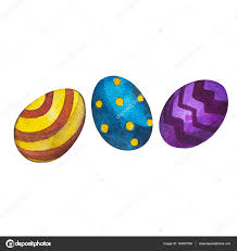 word easter egg hand drawn watercolor art eggs with word easter isolated