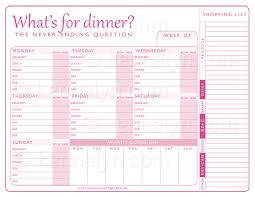 family menu template family menu planner expin franklinfire co