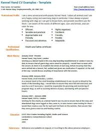 kennel assistant cv example   learnist org