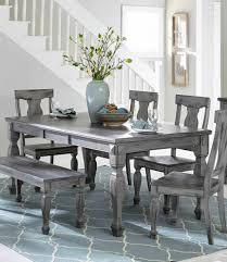 rustic gray dining table. Gray Dining Table With Leaf Farmhouse Room Grey Sets Rustic Distressed H