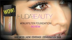 Huda Beauty Fauxfilter Foundation Review Demo Mac Nc30 Olive Warm Skin Tones