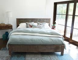 Reclaimed Wood Modern Platform Bedroom rustic-bedroom