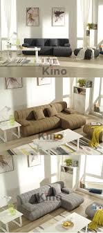 Moderne Linnen Stof Sofa Setgoedkope L Vormige Sofa Setwasbaar