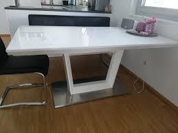 Esstisch Tisch Weiß Hochglanz Ausziehbar In 6971 Hard For