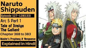 Naruto Shippuden Arc 5 Tale of Jiraiya the Gallant Story Part 1 127 to 128  Anime Explained in Hindi - YouTube