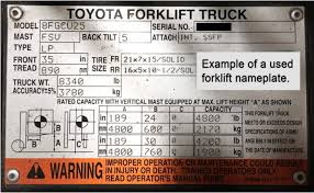 Forklift Capacity Chart How To Read A Forklift Nameplate In Plain English