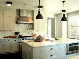 Stainless Steel Kitchen Pendant Light Interior Elegant White Kitchen Design With White Marble