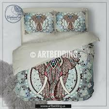 full image for elephant bedding boho mandala queen king full twin duvet cover set vintage inspired