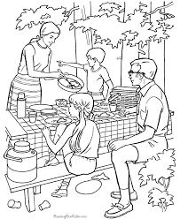 Camping Coloring Pages Kids Summer Coloring Fun Camping