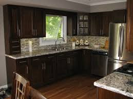 superior dark kitchen cabinets with oak floors kitchen wall color ideas with dark oak cabinets