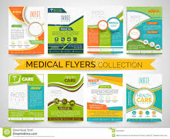 stylish medical flyers templates or brochures collection stock stylish medical flyers templates or brochures collection