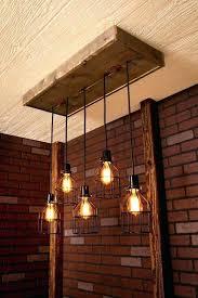 wood orb chandelier wooden orb