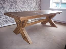 rustic dining table legs