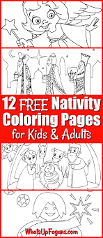 12 Free Printable Nativity Coloring Pages