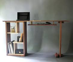 home office standing desk. Modern Standing Desk Stand Up In Walnut Home Office Custom Wood Furniture Adjustable .