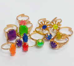 Vending Machine Engagement Ring Adorable 48 Pcs Metal Gold Girl Gem RINGS VENDING MACHINE TOYS Pinata Bag