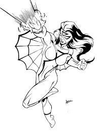 Small Picture Coloring Pages Animals Spiderwoman With Inks Also By And Sean