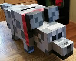 Boy Valentine Box Decorating Ideas Minecraft Wolf Valentine Boxes Pinterest Minecraft Wolf Box 84