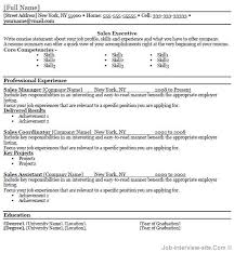 Resume Example. Free Professional Resume Templates Microsoft Word ...