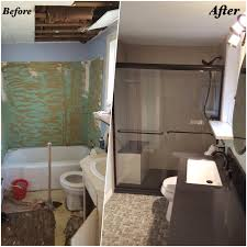 Complete Bathroom Remodel With New Rebath Brushed Linen Wall - Complete bathroom remodel