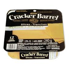 Cracker Barrel Light Cheese Cracker Barrel Cheese Slices Medium Light