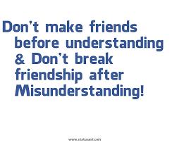Misunderstanding Friends Quotes