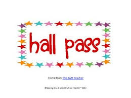 Hall Pass Template Free Barca Fontanacountryinn Com