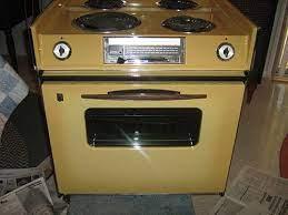 glen return a 1970s harvest gold stove