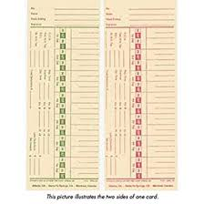 Bi Weekly Time Card Amazon Com Lathem 1900l 2 Time Cards Double Sided Weekly Or Bi