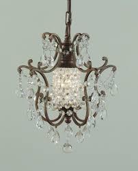 surprising mini bronze crystal chandelier f brb
