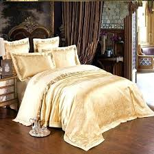 gold velvet duvet cover king comforter sets size silk with red and decorations