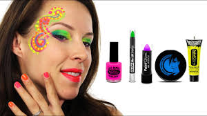 Face Crayon Designs Uv Neon Face Paint Tutorial How To Do Neon Festival Face Paint