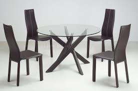 Round Glass Dining Room Table Glass Chintaly Imports Tara Extendable Dining Table Tara Dt Clr
