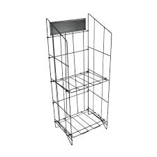 metal wire rack display bulk newspaper catalog stand storage shelves home depot stor