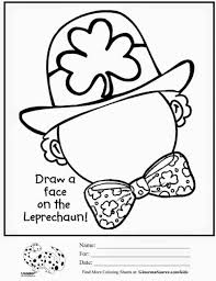 Small Picture St Leprechaun Coloring Pages To Print Patricks Day Best Of Free