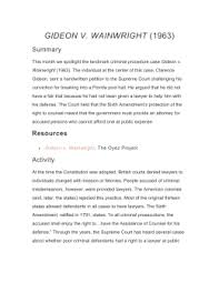 gideon s trumpet guided film questions gideon v wainwright 1963