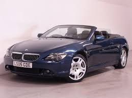 Coupe Series bmw 645 convertible : Used Blue BMW 645Ci for Sale | Hampshire