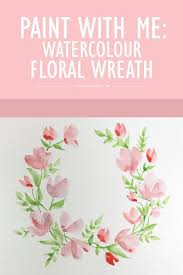 paint with me watercolour fl wreath tutorial for beginners wonder forest more