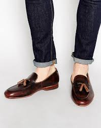 dark brown leather tassel loafers house of hounds leather tassel loafer